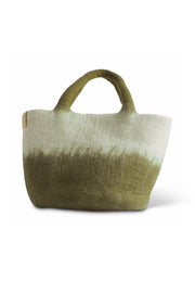 Aveva Wool Felt Small Basket/Bag Olive