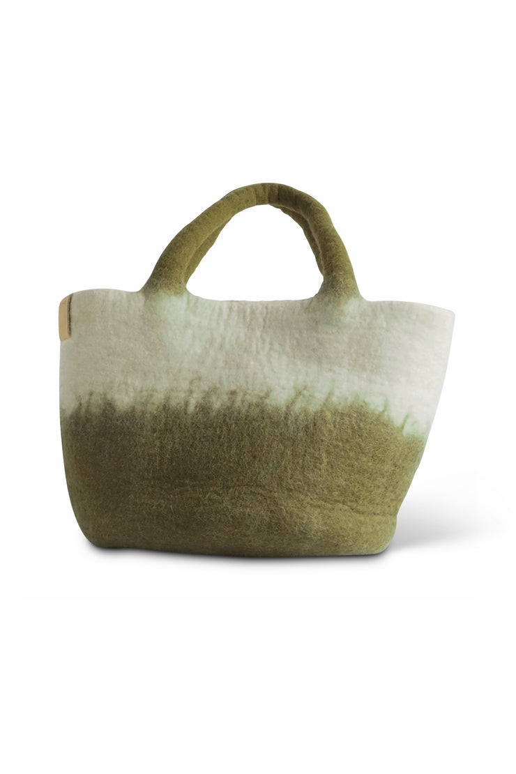Aveva Wool Felt Bag Olive