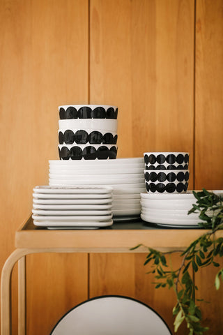 Marimekko Rasymatto Medium Bowl 4 DL Black/White