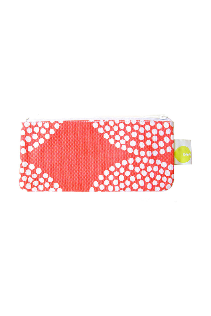 See Design See Design Cosmetic Bag/Pencil Case Big Wheels Salmon/White - KIITOSlife