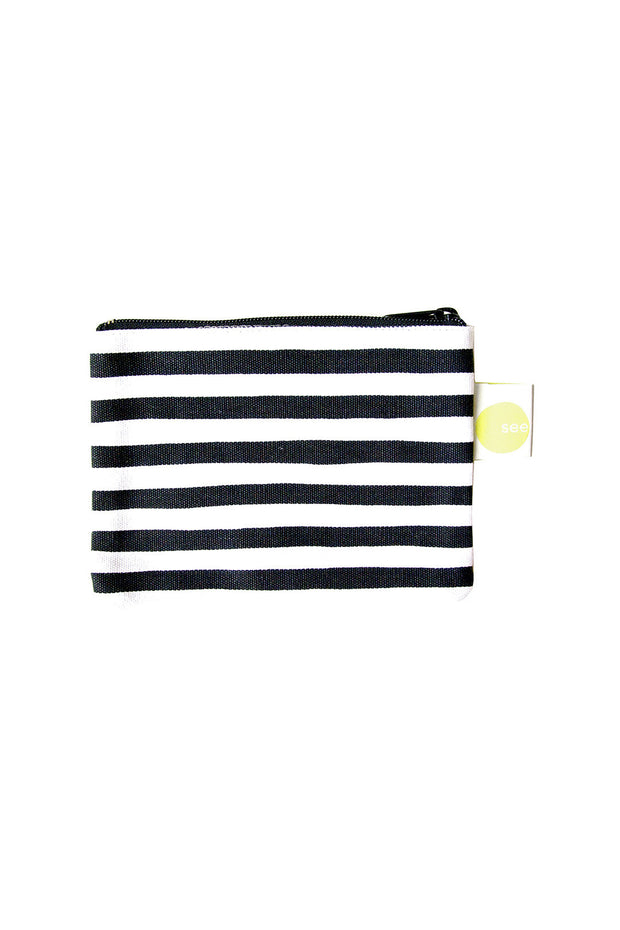 See Design See Design Coin Purse Karma Stripe Black/White - KIITOSlife