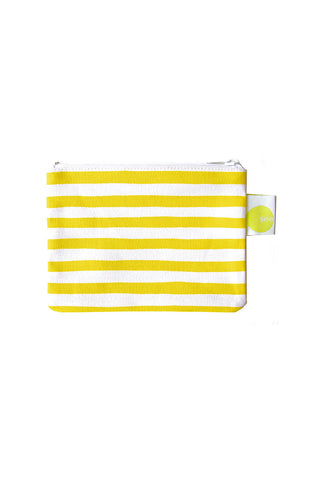 See Design Coin Purse Karma Stripe Yellow/White