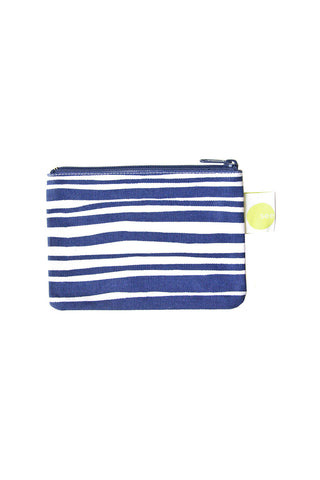 See Design Coin Purse Layer Stripe Indigo/White