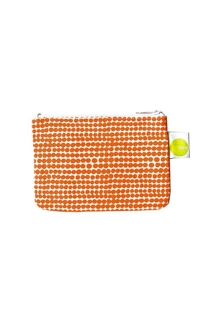 See Design Coin Purse Peas Orange/White