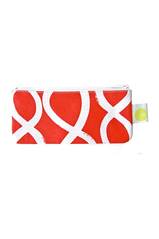 See Design Cosmetic Bag/Pencil Case Twist Red/White