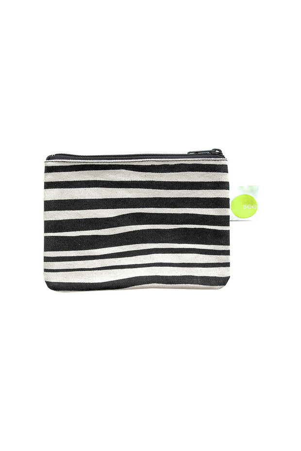 See Design See Design Coin Purse Layer Stripe Black/White - KIITOSlife