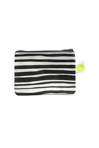 See Design Coin Purse Layer Stripe Black/White