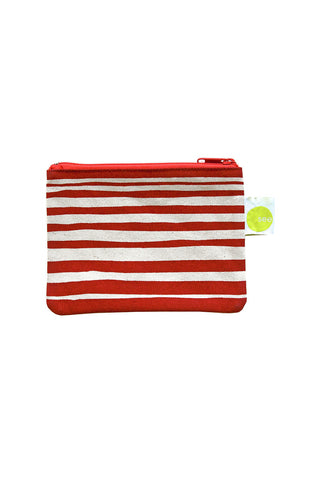 See Design Coin Purse Layer Stripe Red/White