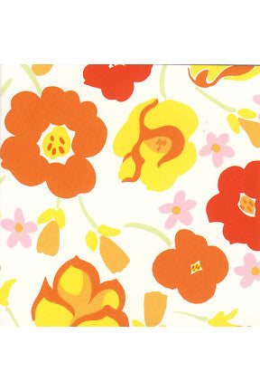 Marimekko Marimekko Leonora Mini Gift Tag Pink/Orange/Yellow - KIITOSlife