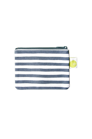 See Design Coin Purse Karma Stripe Charcoal/White