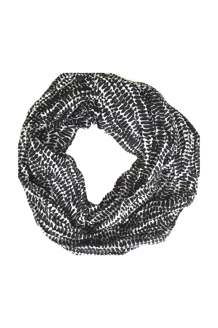 See Design Seeds Cotton Scarf Black