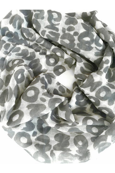 See Design Sake Wool Scarf Grey/White