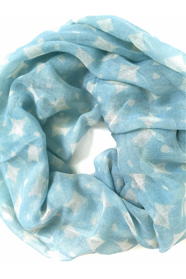 See Design Wheels Wool Scarf Ice/White