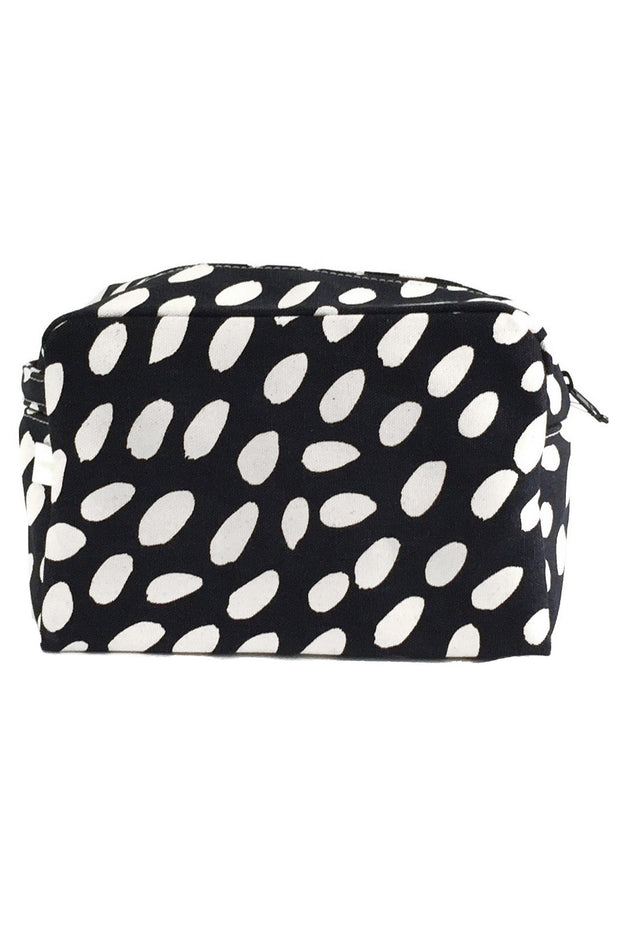 See Design Large Cosmetic Bag Cheetah Black/White