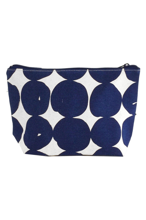 See Design Travel Pouch Large Bag Buns Navy/White