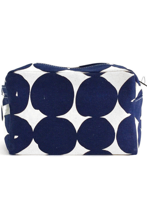 See Design Large Cosmetic Bag Buns Navy/White