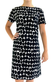 See Design Big Smudge Dress Black