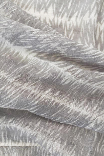 See Design Grasses Linen Scarf Grey
