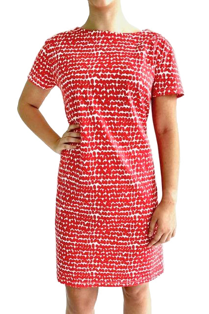 See Design Smudge Dress Red