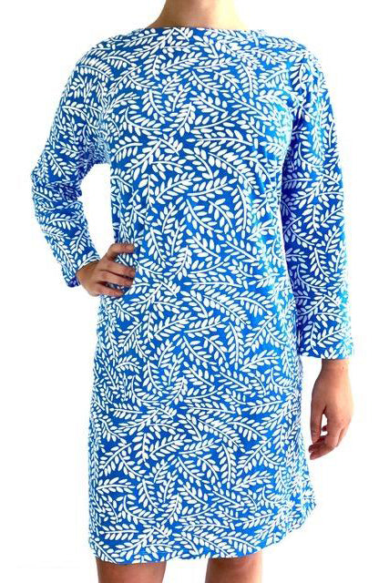 See Design Twig 3/4 Sleeve Dress Periwinkle