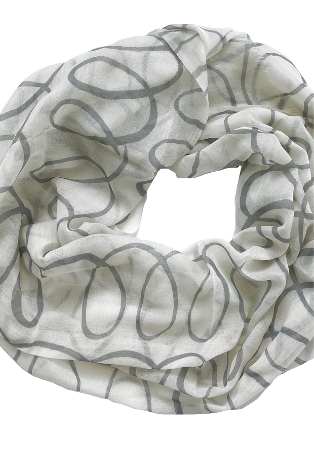 See Design Sugar Wool Scarf Grey/White