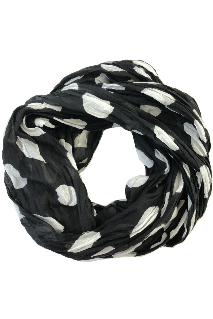 See Design Big Cheetah Cotton Scarf Black/White