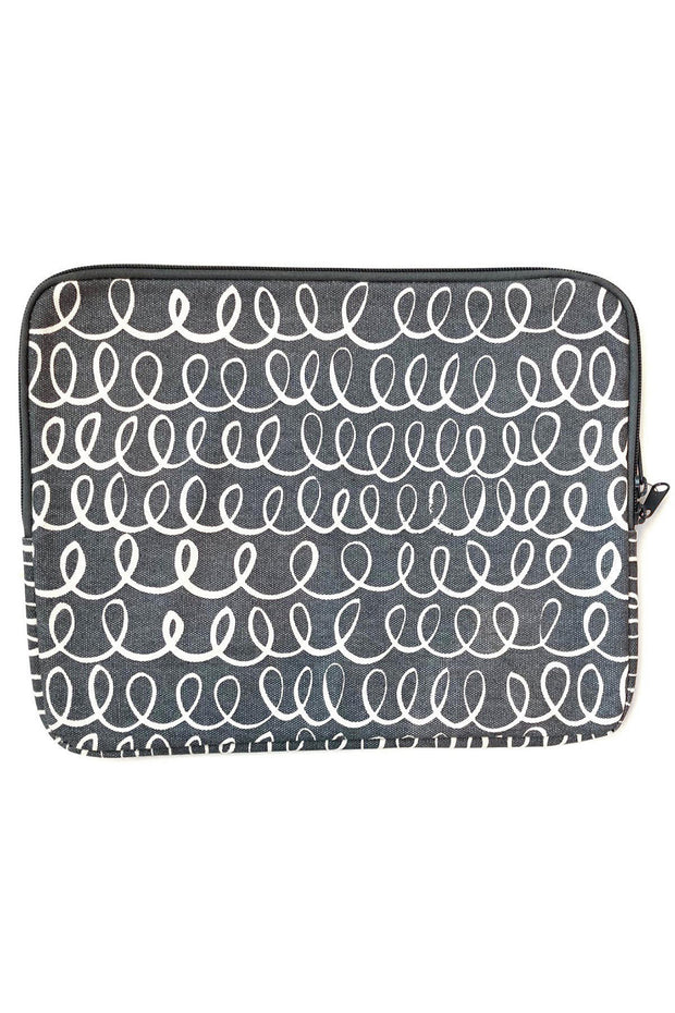 See Design Laptop Cover Poem Grey/White