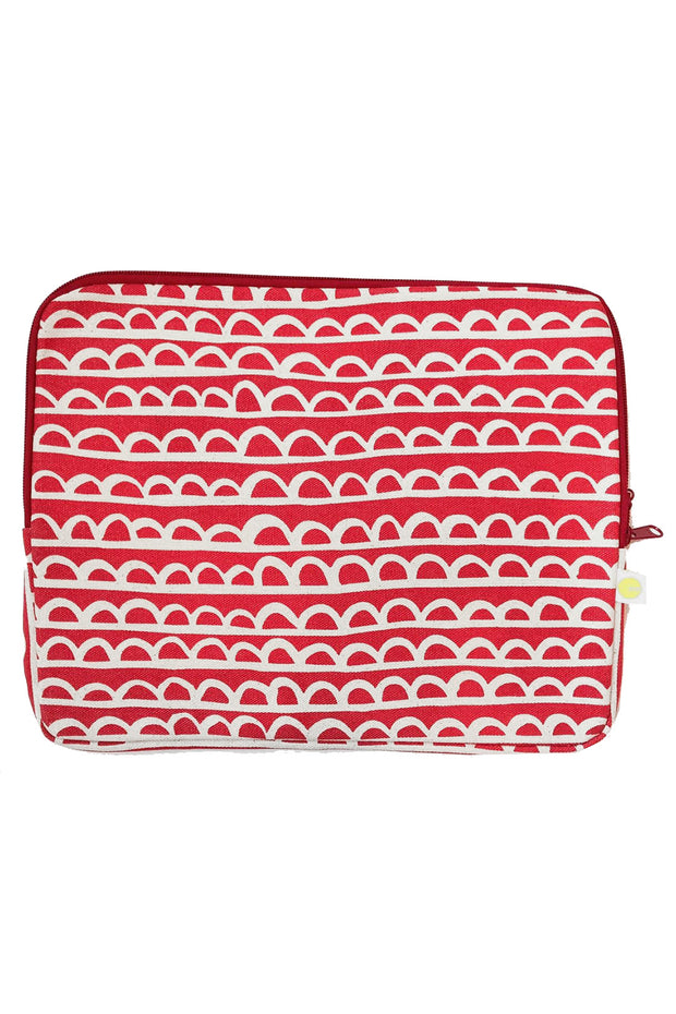 See Design Laptop Cover Scallop Red/White