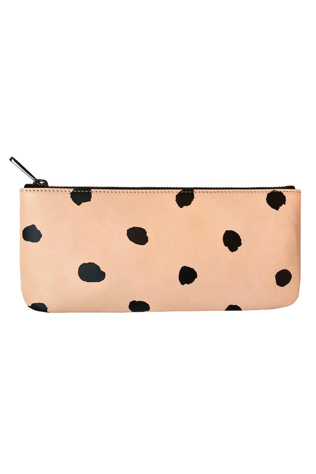 See Design Leather Wallet Dots Black Large