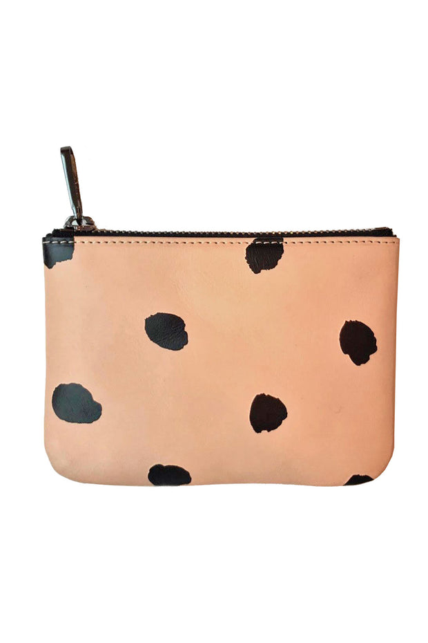 See Design Leather Wallet Dots Black Small