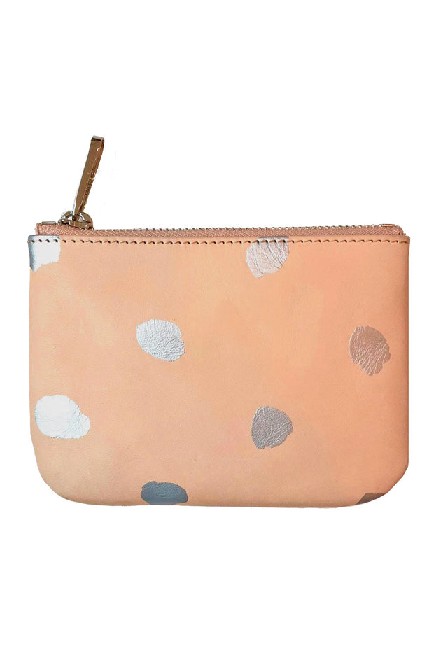 See Design Leather Wallet Dots Silver Small
