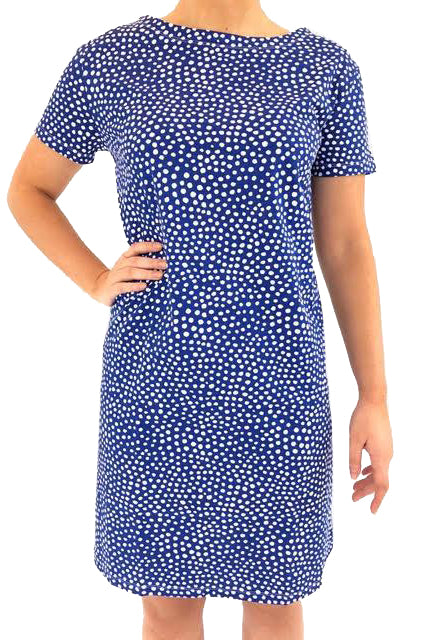 See Design Spots Dress Navy