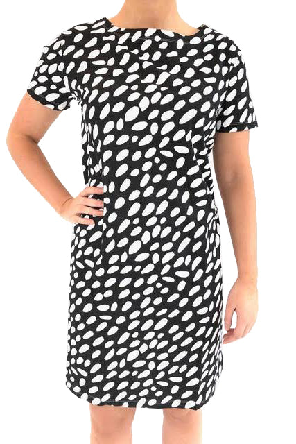 See Design Cheetah Dress Black