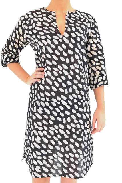 See Design Tunic Cheetah Black