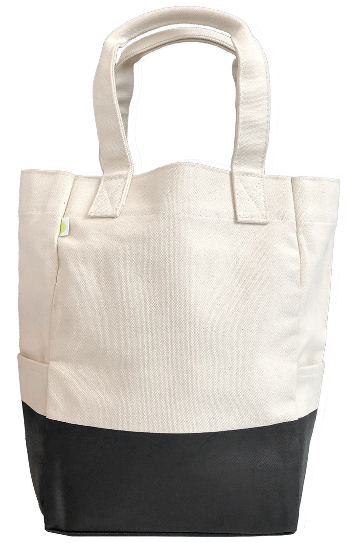 See Design City Tote Bag Natural/Black Dipped