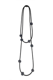 Frank Ideas 8 Felt Beads Necklace Grey