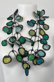Annemieke Broenink Batiq Necklace Aqua Green