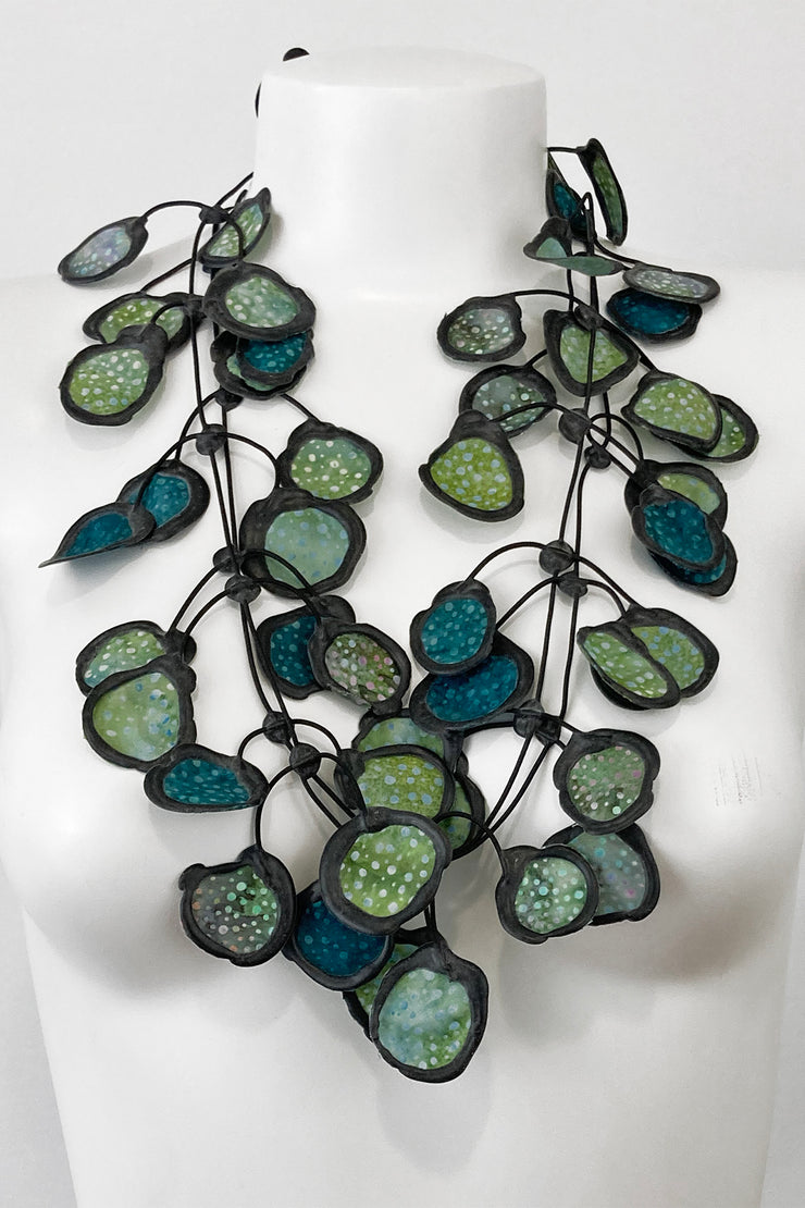 Annemieke Broenink Batiq Necklace Olive Green