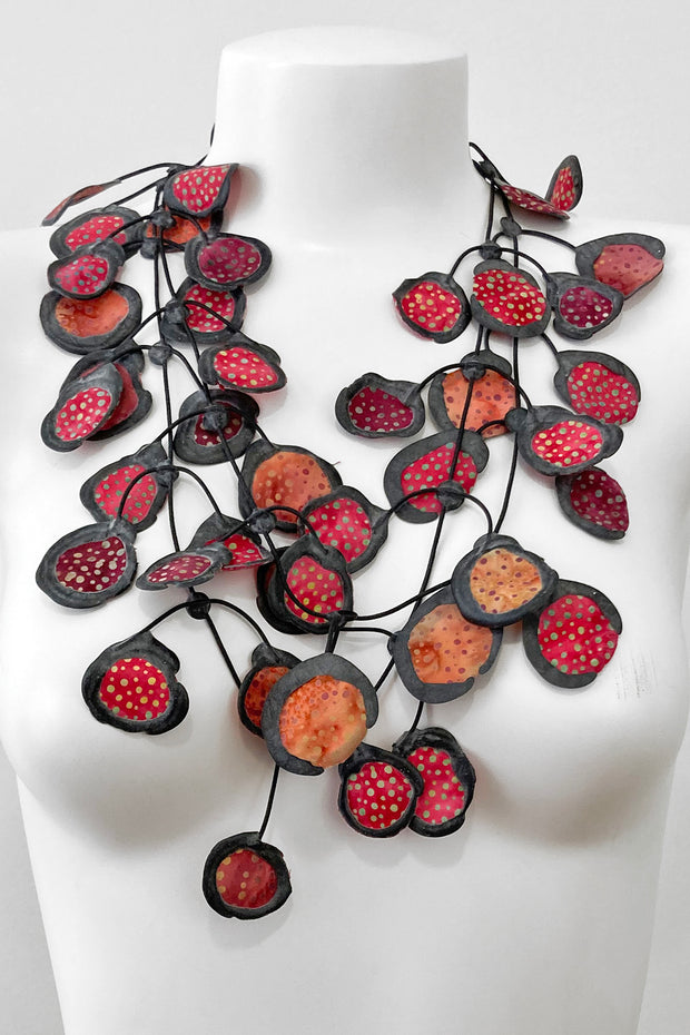 Annemieke Broenink Batiq Necklace Rustic Red