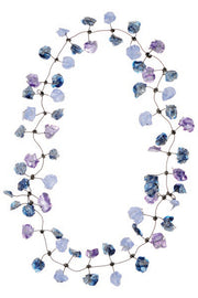 Annemieke Broenink Lace Necklace Purple Blue