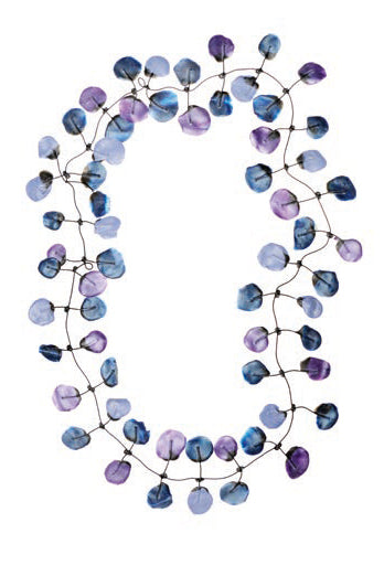 Annemieke Broenink Poppy Necklace Purple Blue