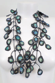 Annemieke Broenink Glitter Poppy Necklace Acid Green