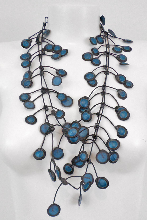 Annemieke Broenink Dubbel Pop Dot Necklace Blue