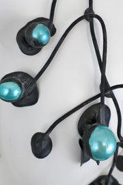 Annemieke Broenink Chunky Pearl Necklace Turquoise