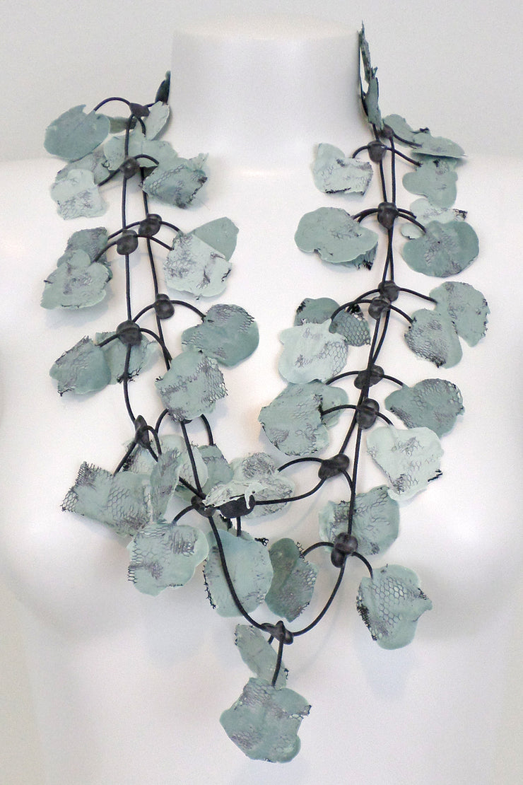 Annemieke Broenink Lace Necklace Cloudy Sky