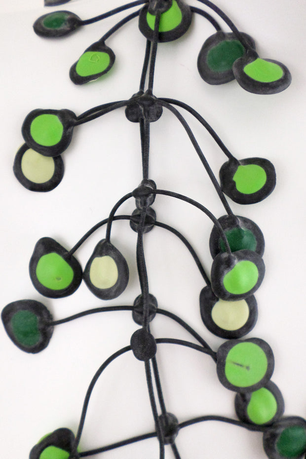 Annemieke Broenink Dubbel Pop Dot Necklace Acid Green