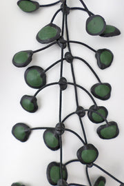 Annemieke Broenink Dubbel Pop Dot Necklace Army Green