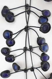 Annemieke Broenink Dubbel Pop Dot Necklace Blue Ink