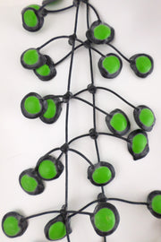 Annemieke Broenink Dubbel Pop Dot Necklace Lime Green
