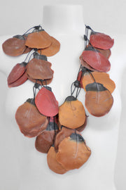Annemieke Broenink Giant Poppy Necklace Autumn Leaves